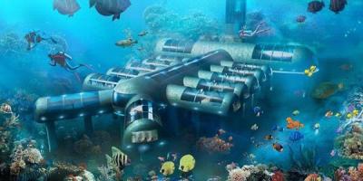 ساخت 5 هتل در زیر آب